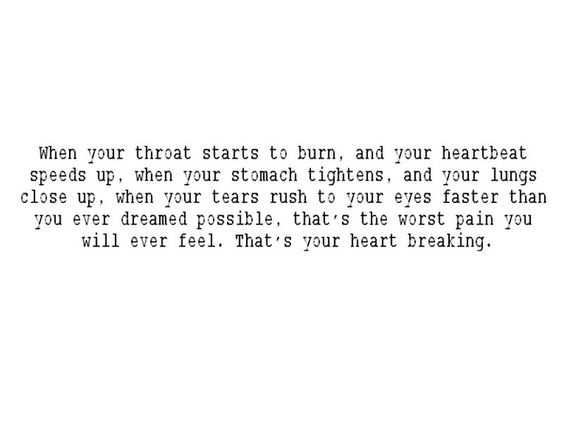 ˚°◦ღ...that's your heart breaking