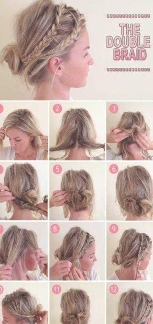 Trendy Hairstyles For Medium Length Hair Braided No Heat 41 Ideas Hair Styles Short Hair Styles Easy Braided Hairstyles
