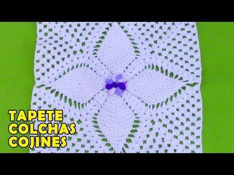Tapete O Carpeta Para Colchas Y Cojines Tejido A Crochet Youtube Labores De Ganchillo Bloques De Ganchillo Cuadrados De Ganchillo