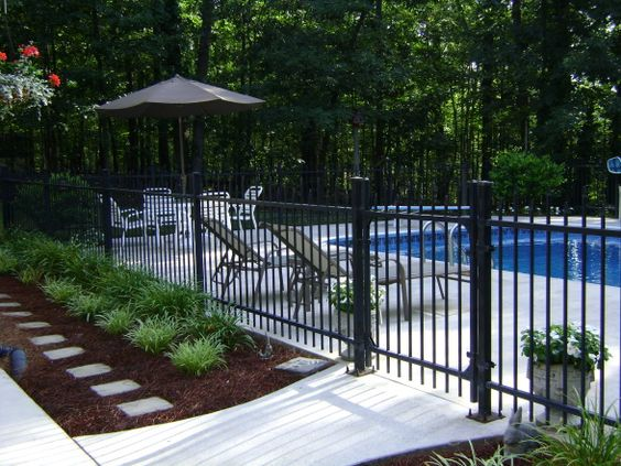 Pinterest the world s catalog of ideas for Pool fence designs