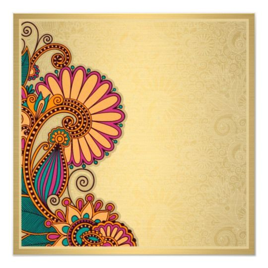 Colorful Paisley Pattern On Gold Indian Wedding Invitation Zazzle Com In 2020 Indian Wedding Invitations Wedding Invitation Card Design Indian Wedding Invitation Card Design