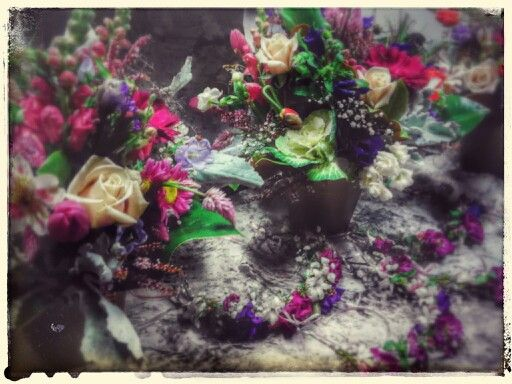 Vintage woodland fairy enchanted floral arrangement ..