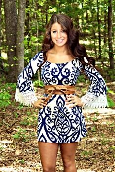 The Lolly Lace Dress in Royal Blue $49.99 #SouthernFriedChics