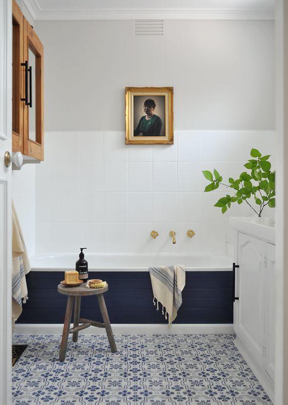 Don T Let Anyone Tell You That A Small Bathtub Won T Make A Big Statement Cheap Bathroom Remodel Bathroom Remodel Tile Diy Bathroom Remodel