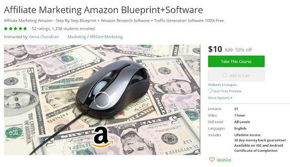 Coupon Udemy - Affiliate Marketing Amazon Blueprint+Software ($10 - new blueprint software ios