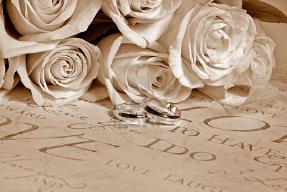 Image detail for -Wedding Bouquet With Rings In Sepia Tones. Royalty Free Stock Photo ...