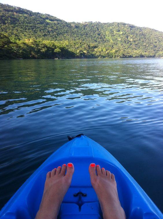Laguna de Apoyo, looks like Tasha's toes.