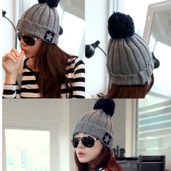 Women Wool Knitted Hat