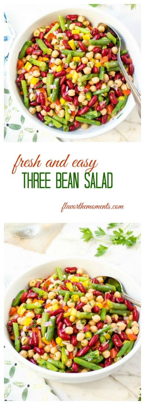 Fresh And Easy Three Bean Salad Flavor The Moments Bean Salad Recipes Bean Recipes Delicious Salads