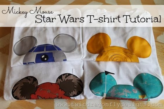 Mickey Mouse Star Wars T Shirt Tutorial Disney Creative