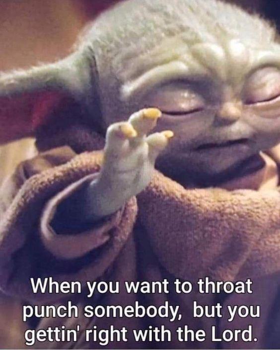 Baby Yoda On Instagram Babyyodaism In 2020 Yoda Meme Funny Relatable Memes Funny