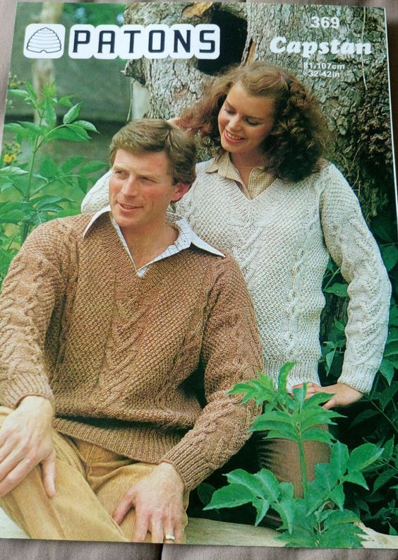 Men\'s & Women\'s Textured Sweater vintage knitting pattern chunky ...