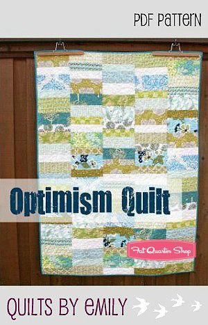 Optimism Downloadable PDF Quilt Pattern Quilts by Emily - Fat Quarter Shop