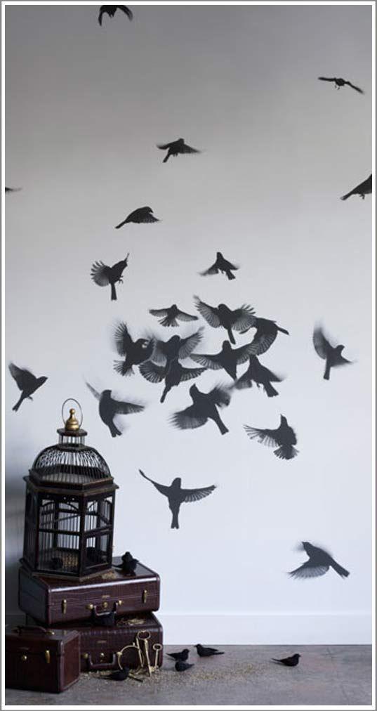 Deco murale birds / oiseaux / papier peint
