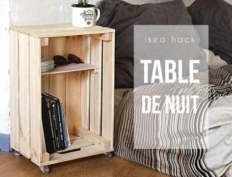 Diy Table De Nuit Avec Une Caisse En Bois Mes Dernieres Lubies