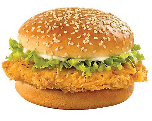 Esta hamburguesa de pollo con aderezo ranch es mi favorita, el pollo crujiente…