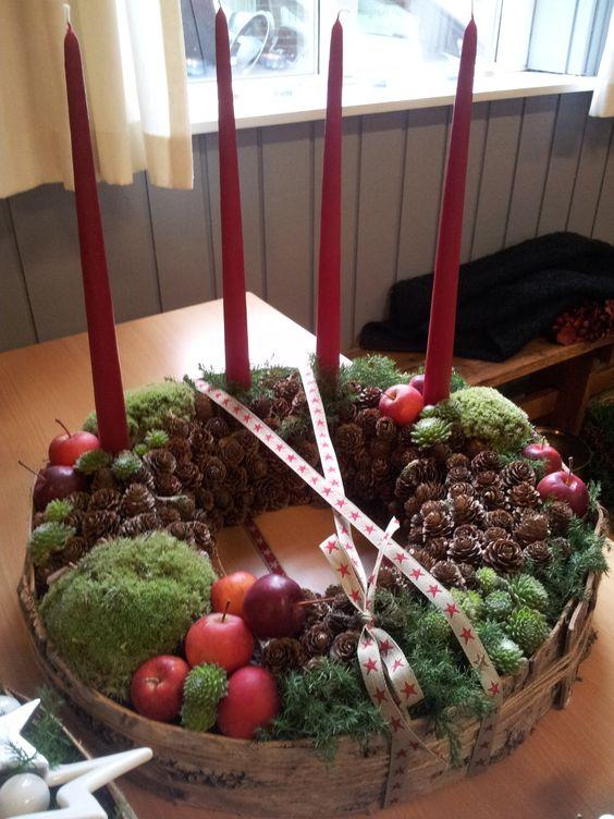 Adventskranz weihnachten pinterest for Gartendeko advent