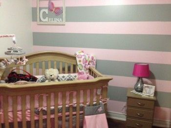 Baby Nursery Ideas A That Oozes Of Designer Style The Grey And Pink Coloured Are Perfect Colour Combination