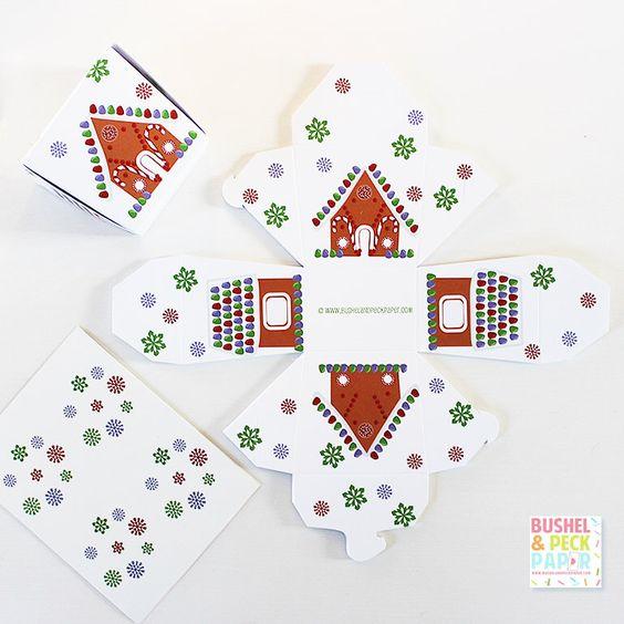 Gingerbread House #Favor #Boxes - #SALE by BushelandPeckPaper on Etsy https://www.etsy.com/listing/117461491/gingerbread-house-favor-boxes-sale