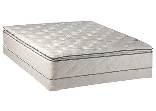 Continental Sleep 10 Inch Medium Plush Pillowtop Innerspring Mattress And 4 Inch Box Spring Foundation Set N Mattress Box Springs Mattress Bedroom Sets Queen