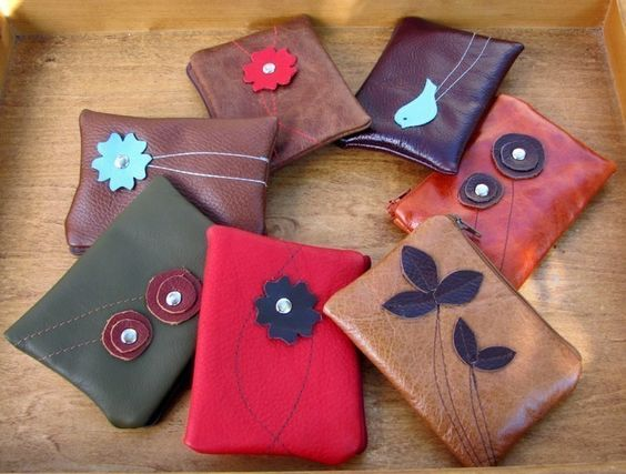 Leather Pouch with Detachable Strap Small Design by studiocatb, $35.00