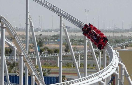 Formula Rossa at Ferrari World in Abu Dhabi, UAB