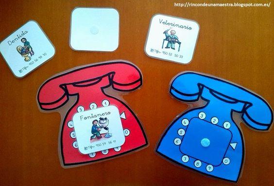 Trabajamos la habilidades sociales y motrices con Materiales manipulativos hablamos por Telefono