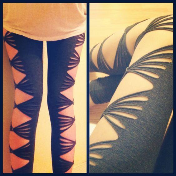 #cut and #bow leggings #DIY  Find at mariaallena.storenvy.com