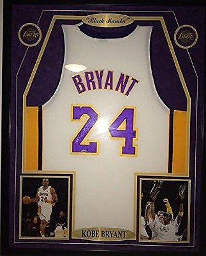 Kobe Bryant Signed Jersey - La Coa Matted & Framed Jordan Lebron