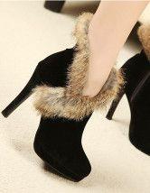 Chaussure A Talon Avec Fourrure