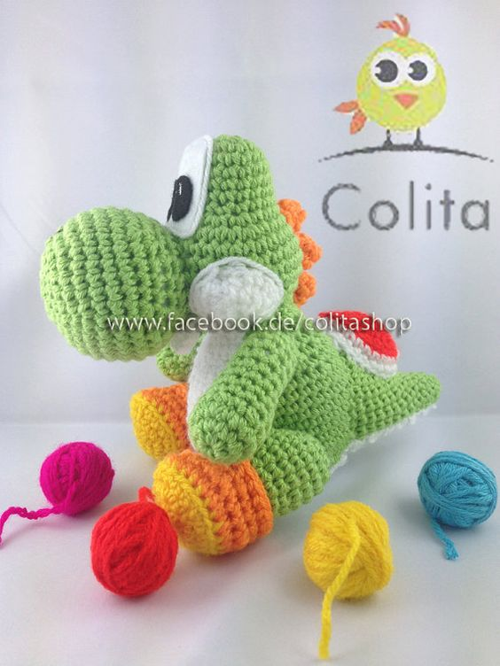 Knitting Pattern For Yoshi Toy : Patterns, Dragon and Amigurumi on Pinterest