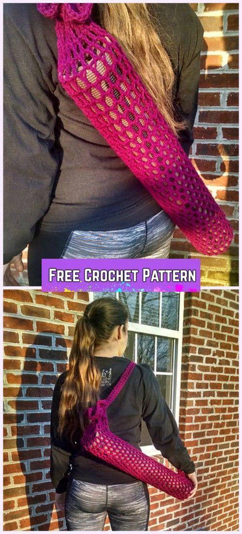 Crochet Yoga Mat Bag Free Pattern Yogamatbags Knitting Bag Pattern Yoga Mat Bag Pattern Yoga Bag Pattern