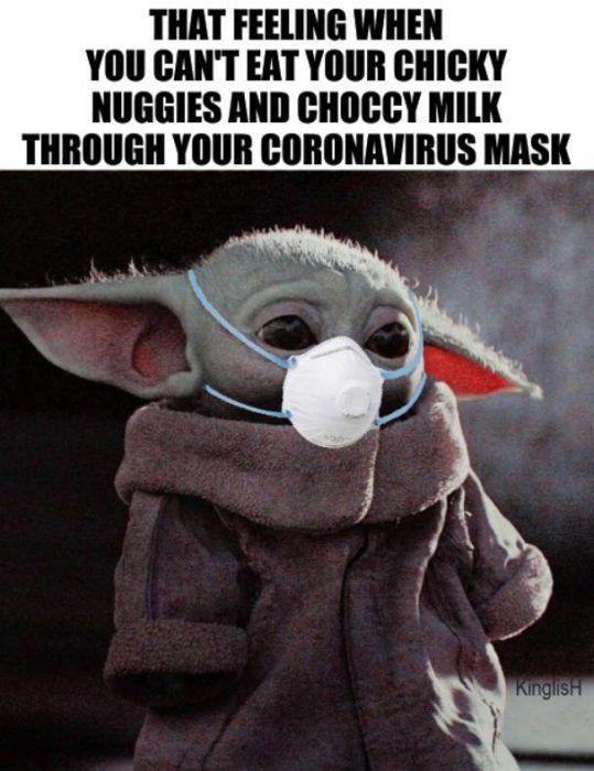 25 Funny Face Mask Memes The Funny Beaver Yoda Funny Yoda Meme Star Wars Jokes