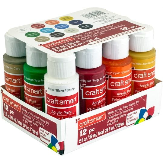 Craft Smart Matte Acrylic Paint Value Set Paint Set Acrylic