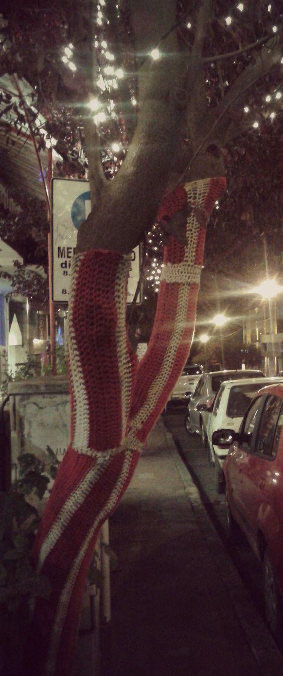 Bariloche - provincia Río Negro - Argentina - Urban Knitting - Árbol - Tejido - Crochet