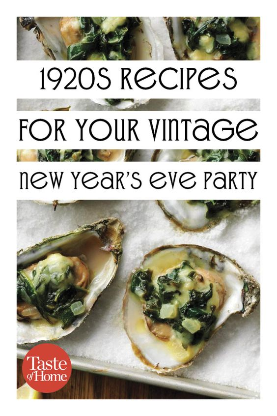 1920s Recipes for Your Vintage New Year's Eve Party