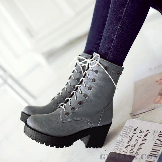 Femme Filles Chaussures Femmes Haut Top Bottines à Lacets Décontractées Plates Décontracté Bottes