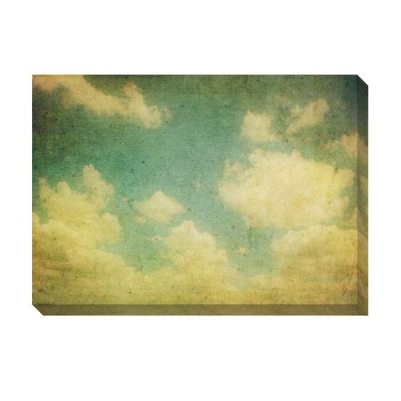 Vintage Clouds III Oversized Gallery Wrapped Canvas | Overstock.com