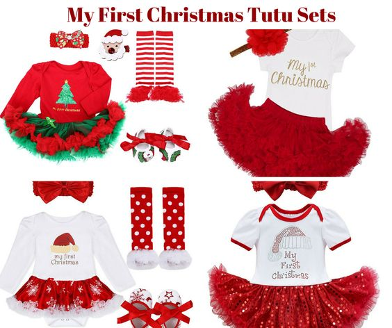 Baby Girl My First Christmas Tutu Sets