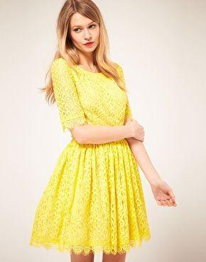 Yellow lace.