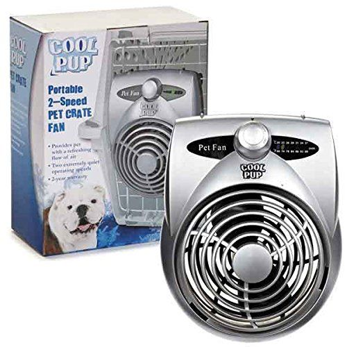 Cool Pup Dog Crate Cooling Fan Pet Cage Two Hours Of Cold Airflow