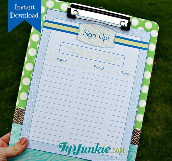 email signup sheet template Google Search signup – Team Sign Up Sheet Template