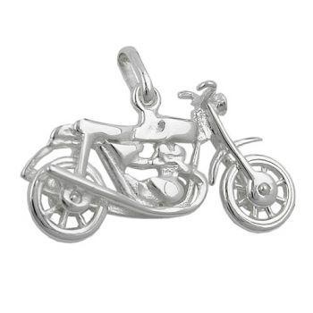 Schmuck-Juweliere.de - Anhänger, altes Motorrad, Silber 925