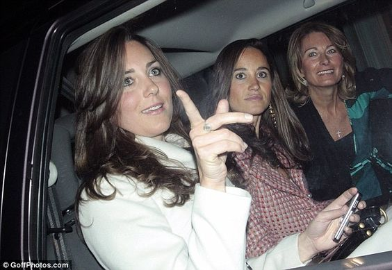 Kate, Pippa and their mother, Carole Middleton.: