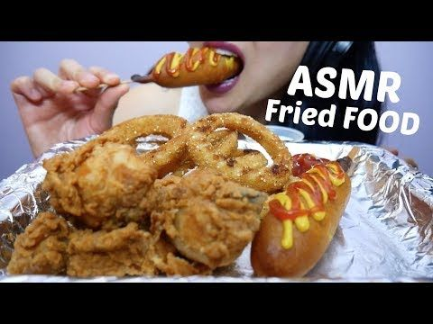 Asmr Ultimate Fried Food Onion Rings Fried Chicken Corndogs No Talking Eating Sounds Sas Asmr Youtube Food How To Cook Potatoes Healthy Potato Recipes Listening to whisper voice and eating sounds are some examples that trigger asmr. pinterest