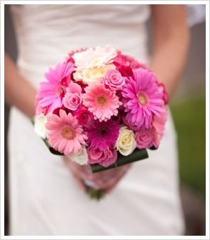 pink Gerbera Daisy Wedding Bouquets | shades of pink gerbera daisies, from the light pink, to striking pink ...