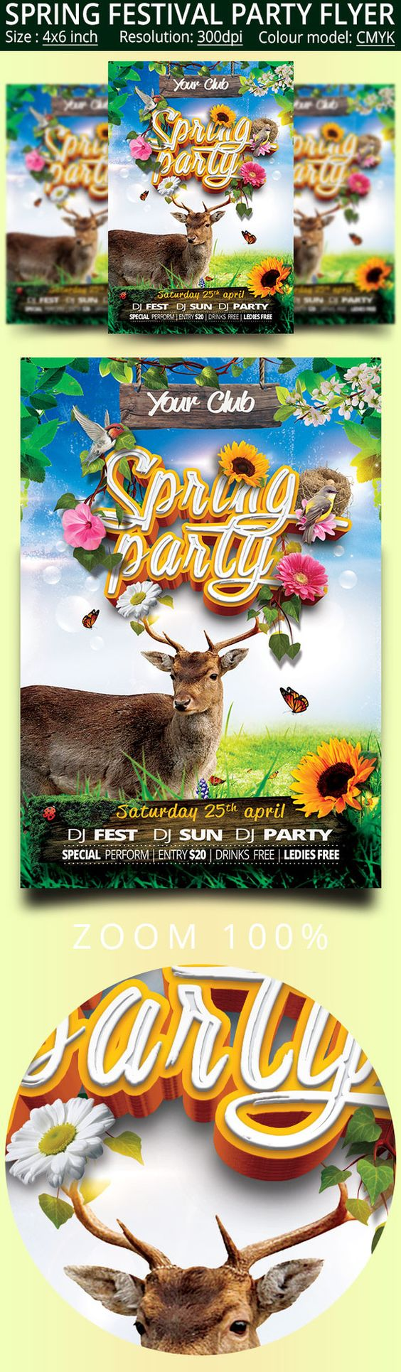 spring festival party flyer festival party party flyer and flyers templates flyers flyers ideas festival party spring festival design flyers party flyer creativemarket festivals