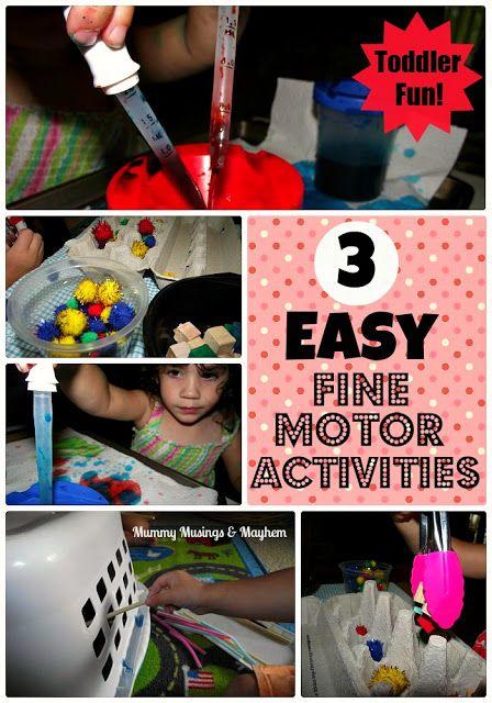 Toddler Actividades motrices finas