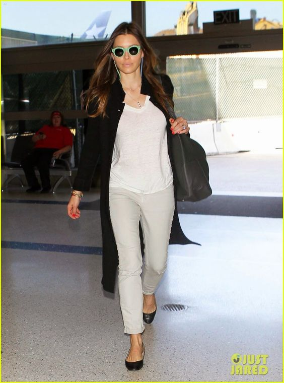 Jessica Biel makes her way through LAX Airport in Los Angeles