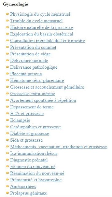 Télécharger Tous les Cours résumés de Médecine, Gynéco-Obstétrique ~ Sofiotheque